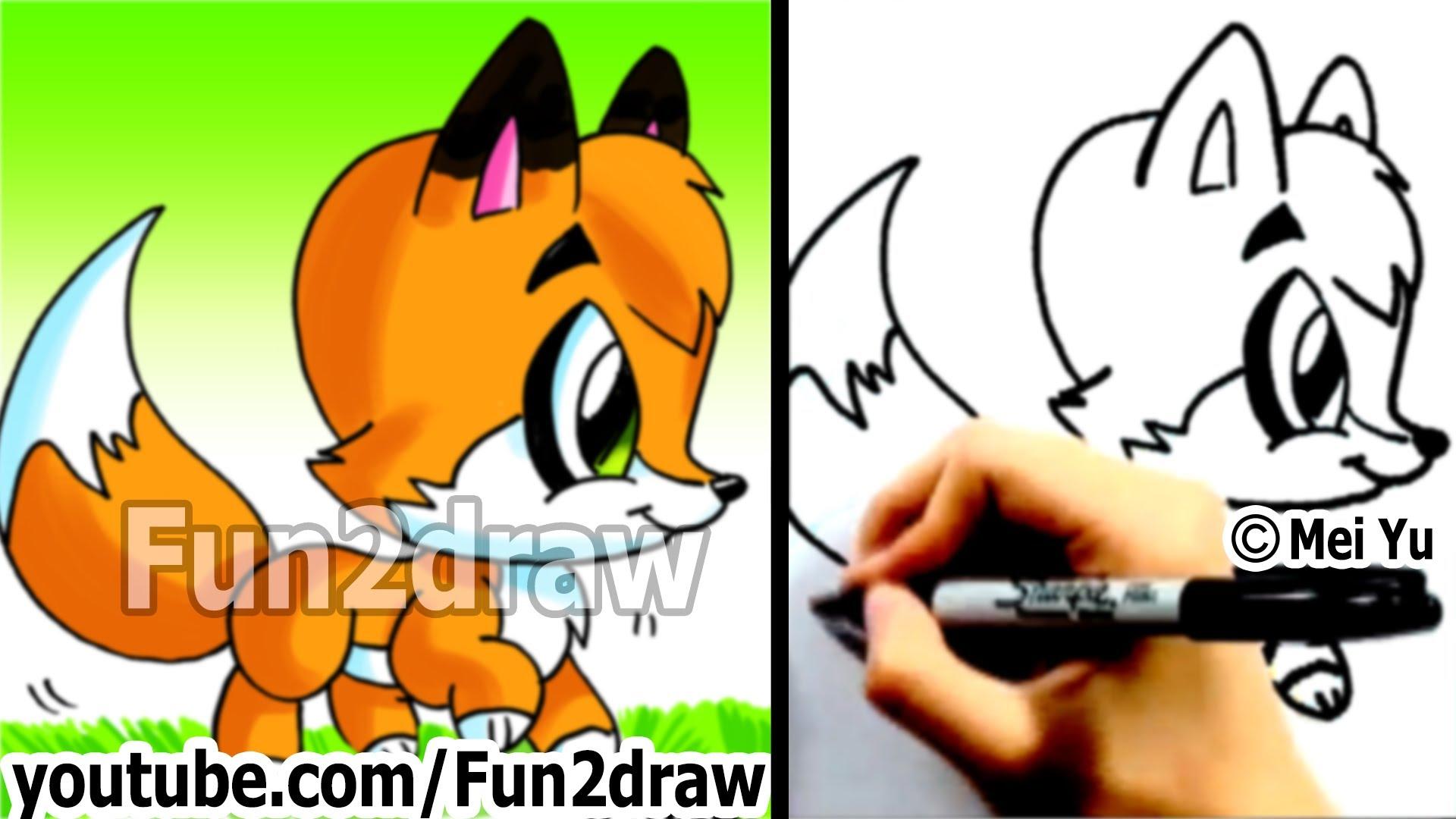 1920x1080 How To Draw A Cartoon Fox