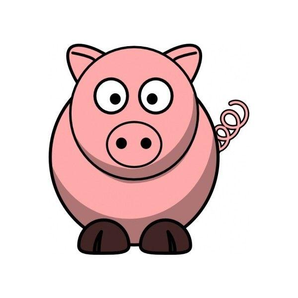 600x600 Pig Clip Art Vector Clip Art