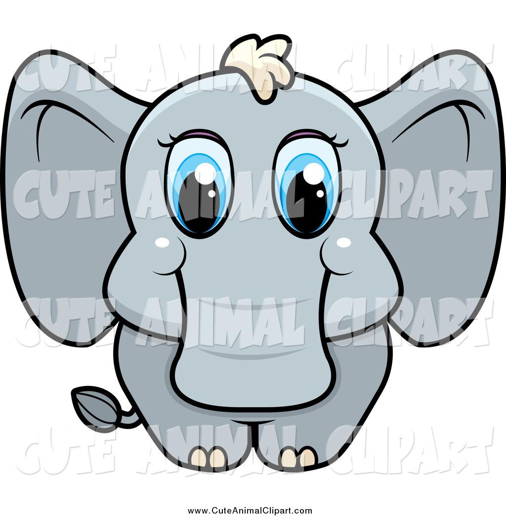 1024x1044 Vector Cartoon Clip Art Of A Cute Baby Elephant With Blue Eyes By