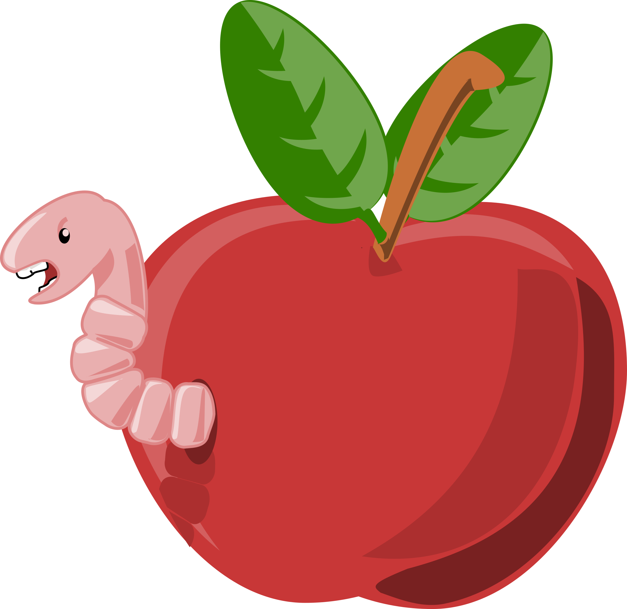 2400x2330 61515383 Cute Cartoon Apple Isolated On White Background Vector