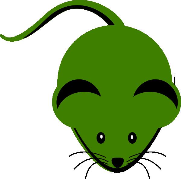 600x593 Cute Green Mouse Cartoon Clip Art