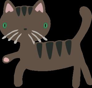 297x282 Cute Cat Clip Art