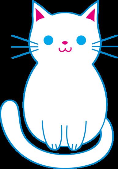 385x550 Cute White Cat