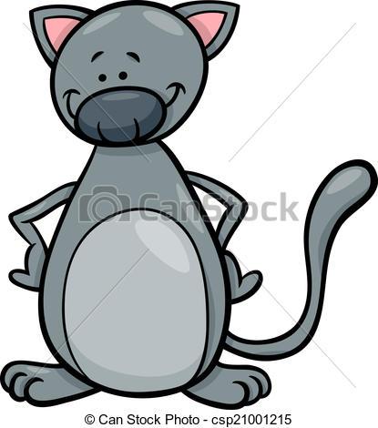 415x470 Cute Cat Cartoon Illustration. Cartoon Illustration Of Cute
