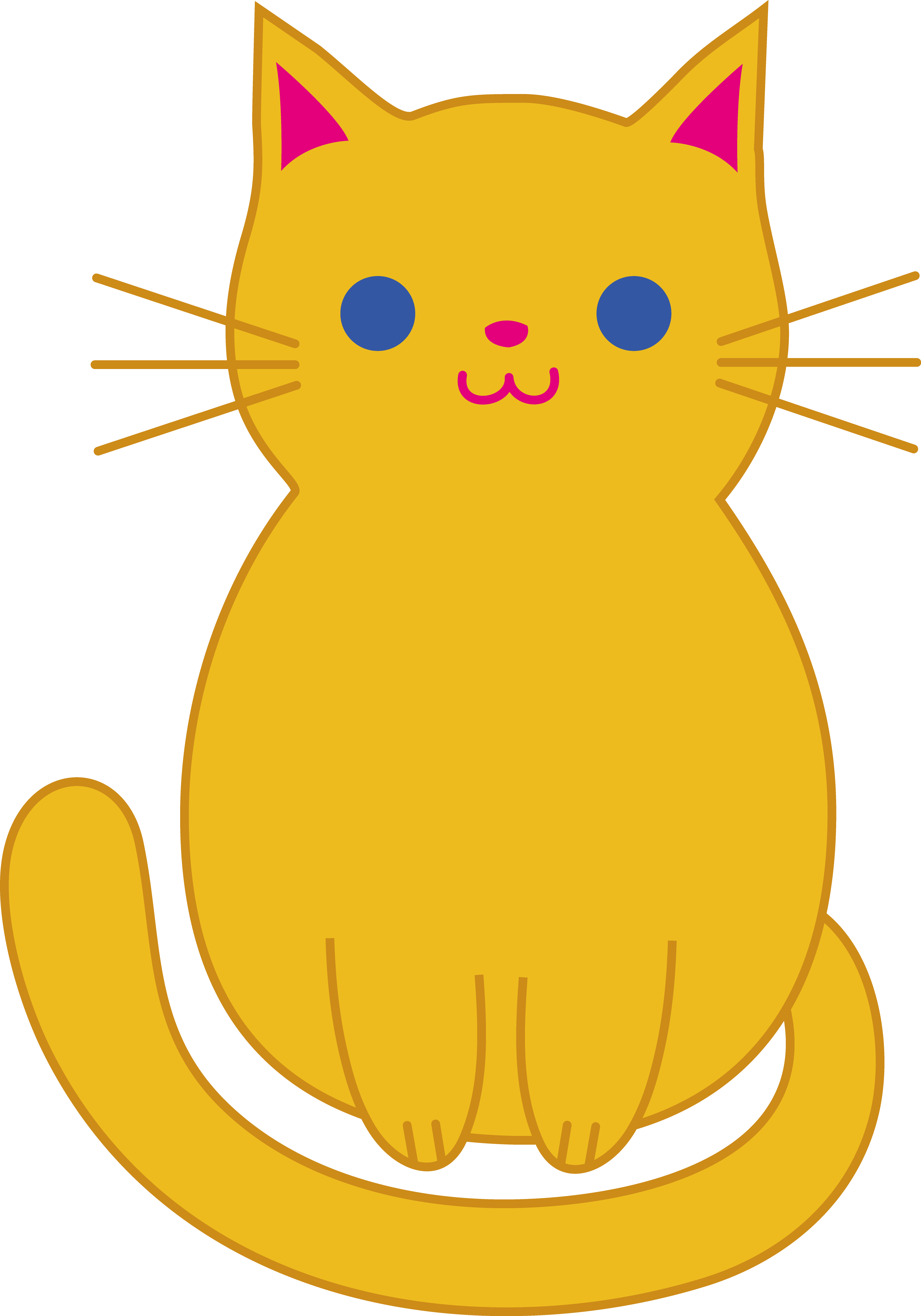 3528x5039 Fine Decoration Cat Clip Art Free Fat Cute Orange Kitten Cats