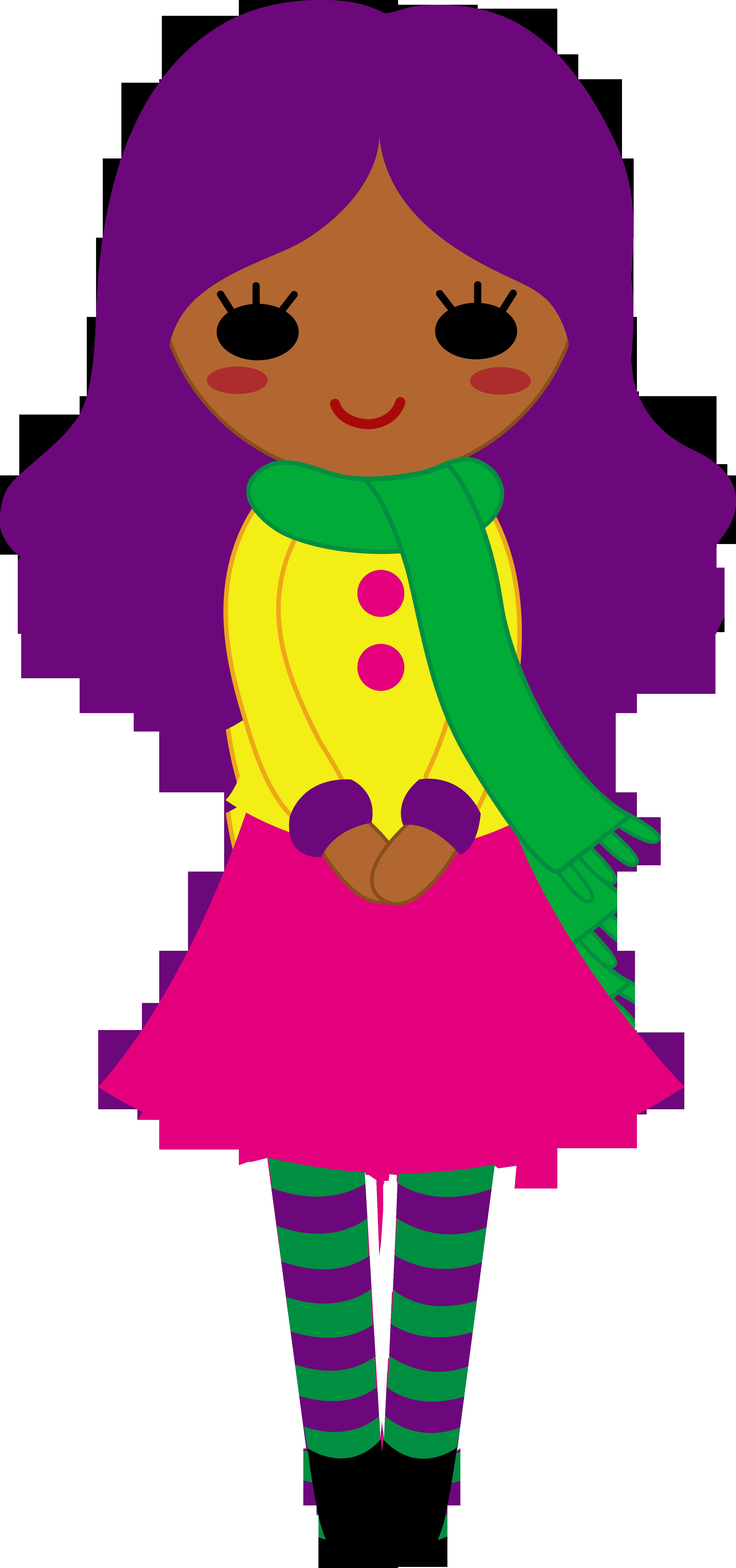 3402x7243 Cute Girl With Purple Hair