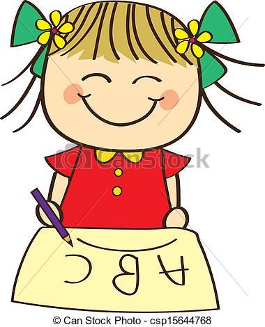 380x470 Cute Little Girl Clipart