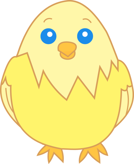 448x550 Cute Yellow Chick Clipart