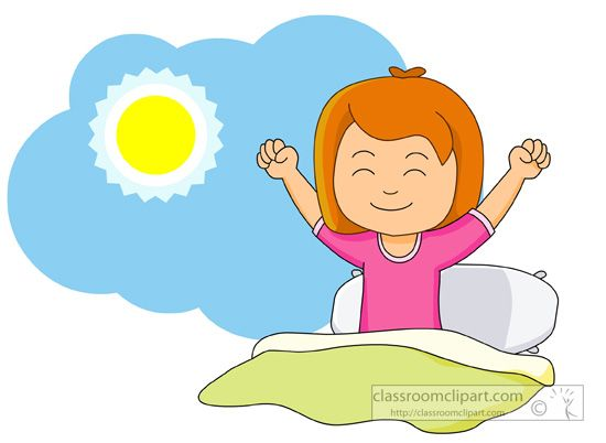 550x402 Cute Girl Waking Up Clipart Collection