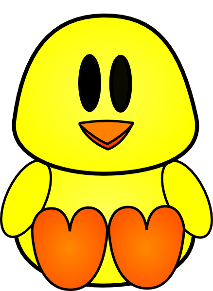 438x599 Baby Chick Clipart Ba Chick Clip Art