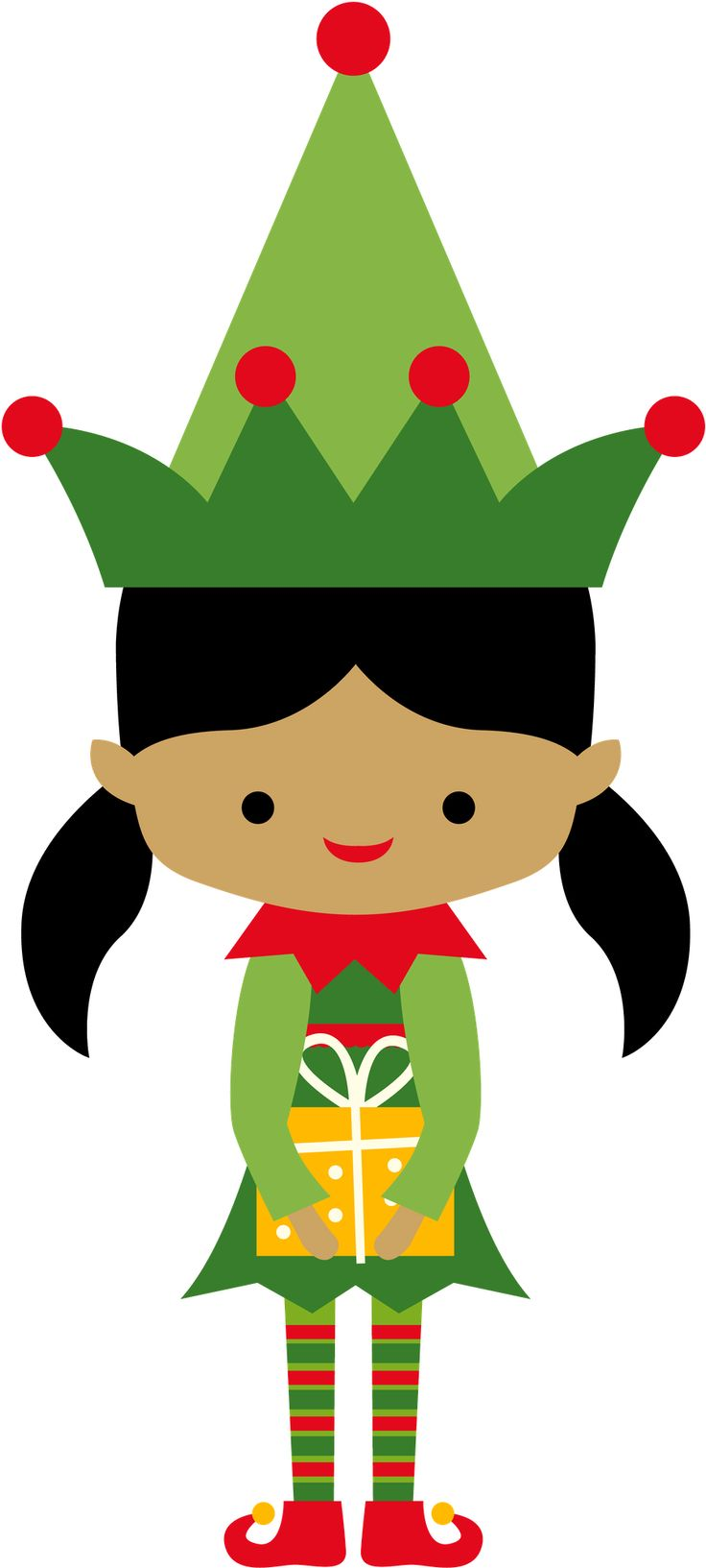 Cute Christmas Elf Clipart