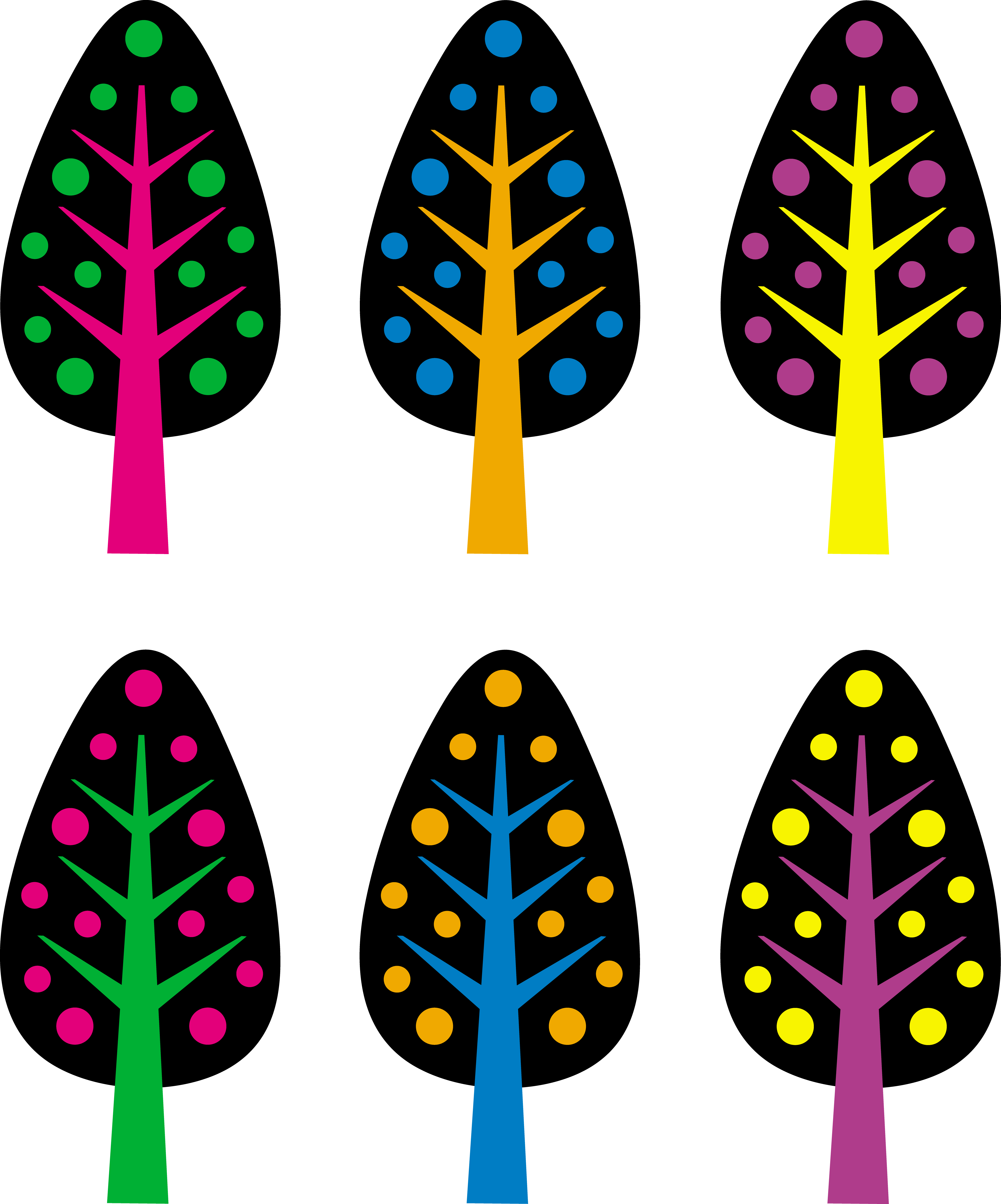5444x6545 Cute Neon Christmas Trees
