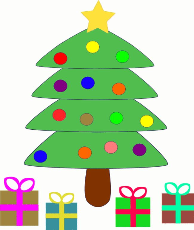 650x770 Cute Christmas Tree Clip Art