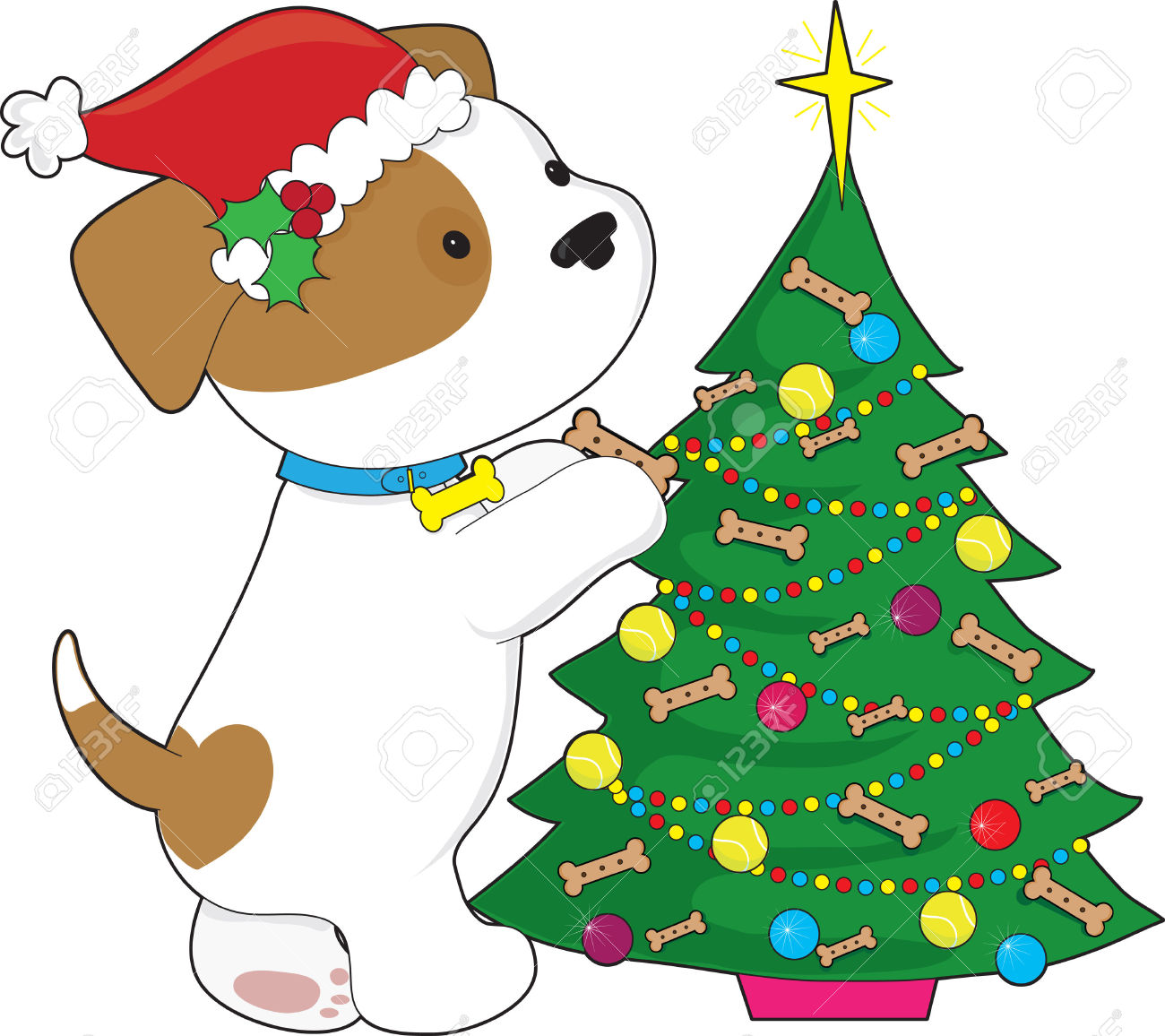 1300x1156 Collection Of Dog Christmas Tree Clipart High Quality, Free