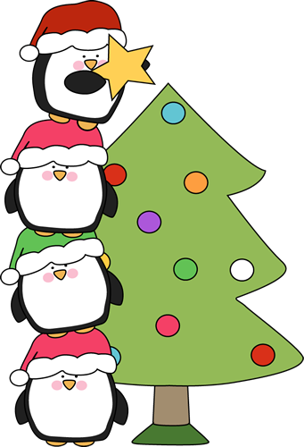 341x500 Cute Little Penguins Trying To Put A Star On A Tree. Of All