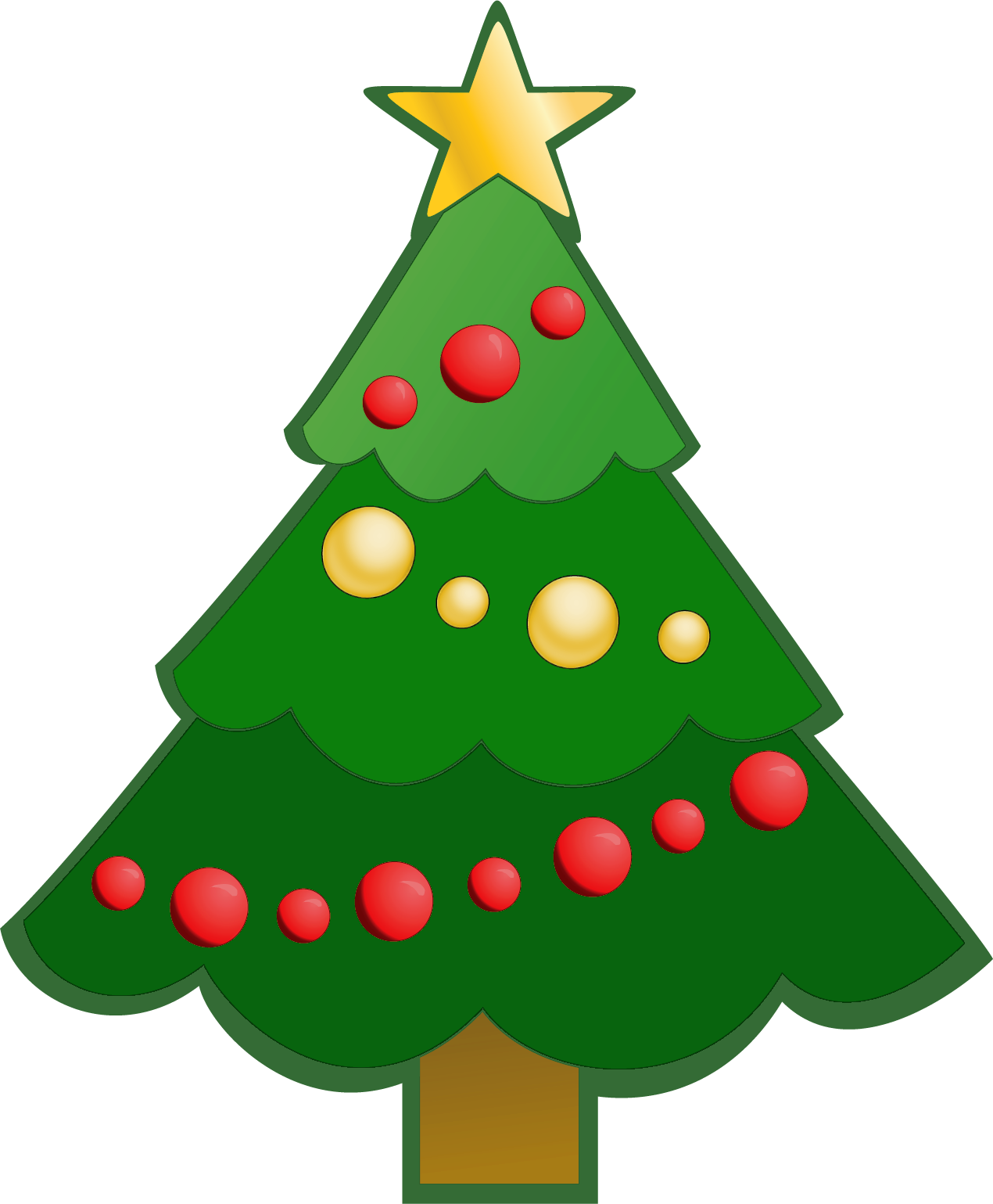 1270x1539 Collection Of Simple Christmas Tree Clip Art High Quality