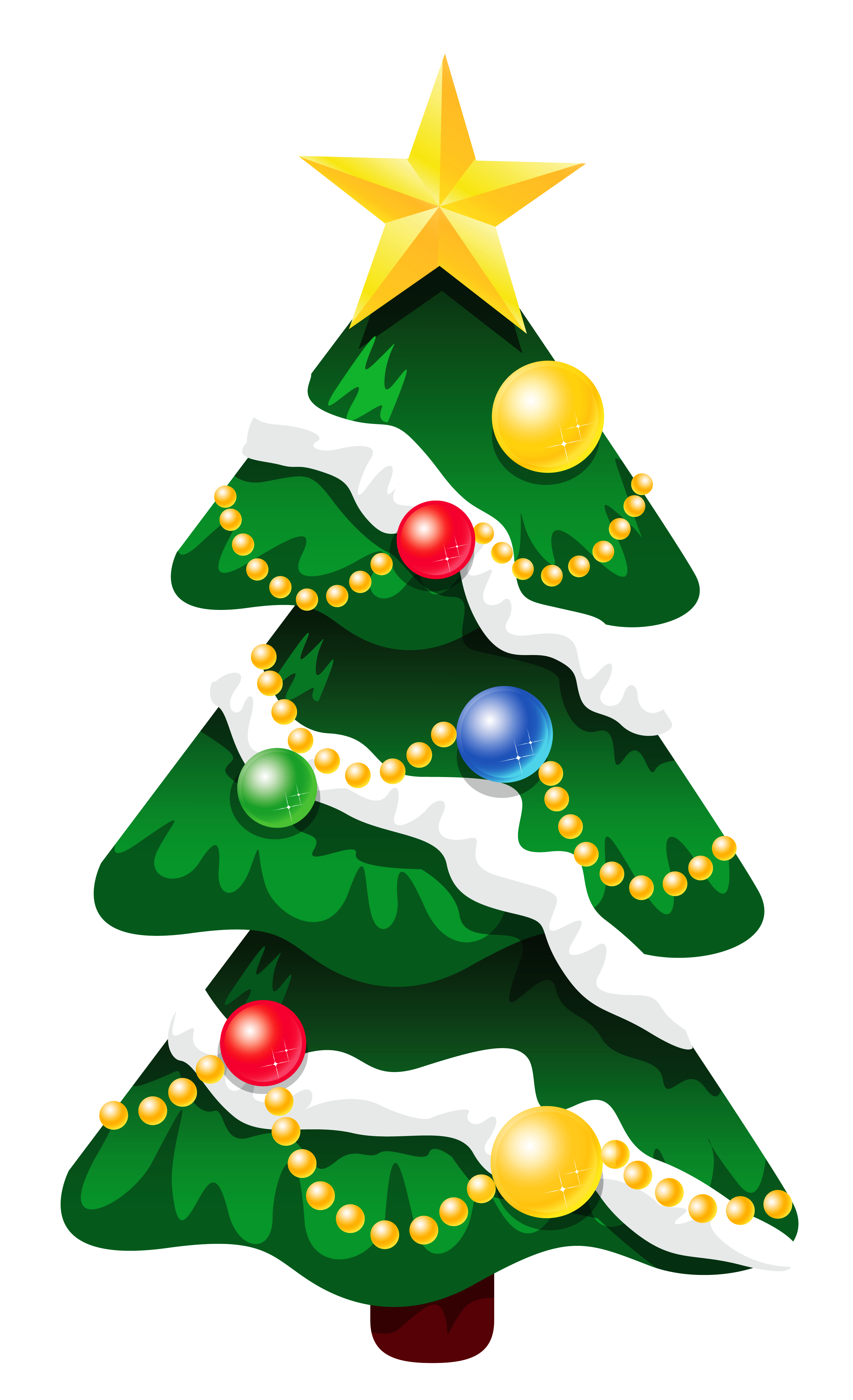 3081x5059 Transparent Snowy Deco Xmas Tree With Star Png Clipartu200b Gallery
