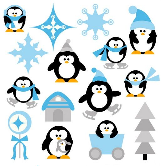 514x531 Clip Art Clip Art, Penguins And Navidad