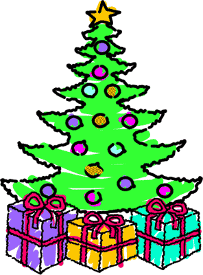 296x400 Christmas Tree With Presents Clipart Clipart Panda
