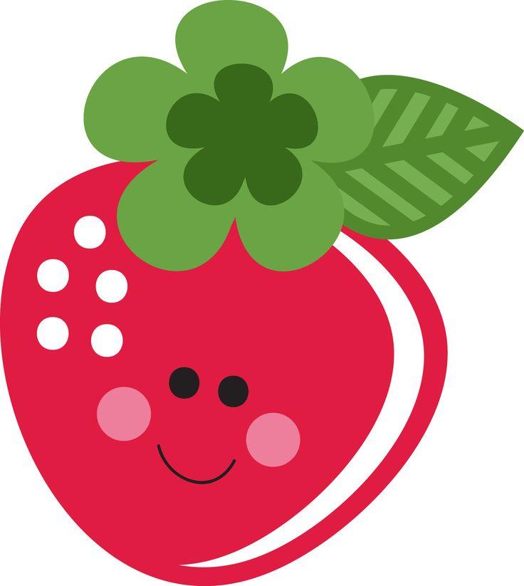 736x823 Cute Strawberry Clip Art