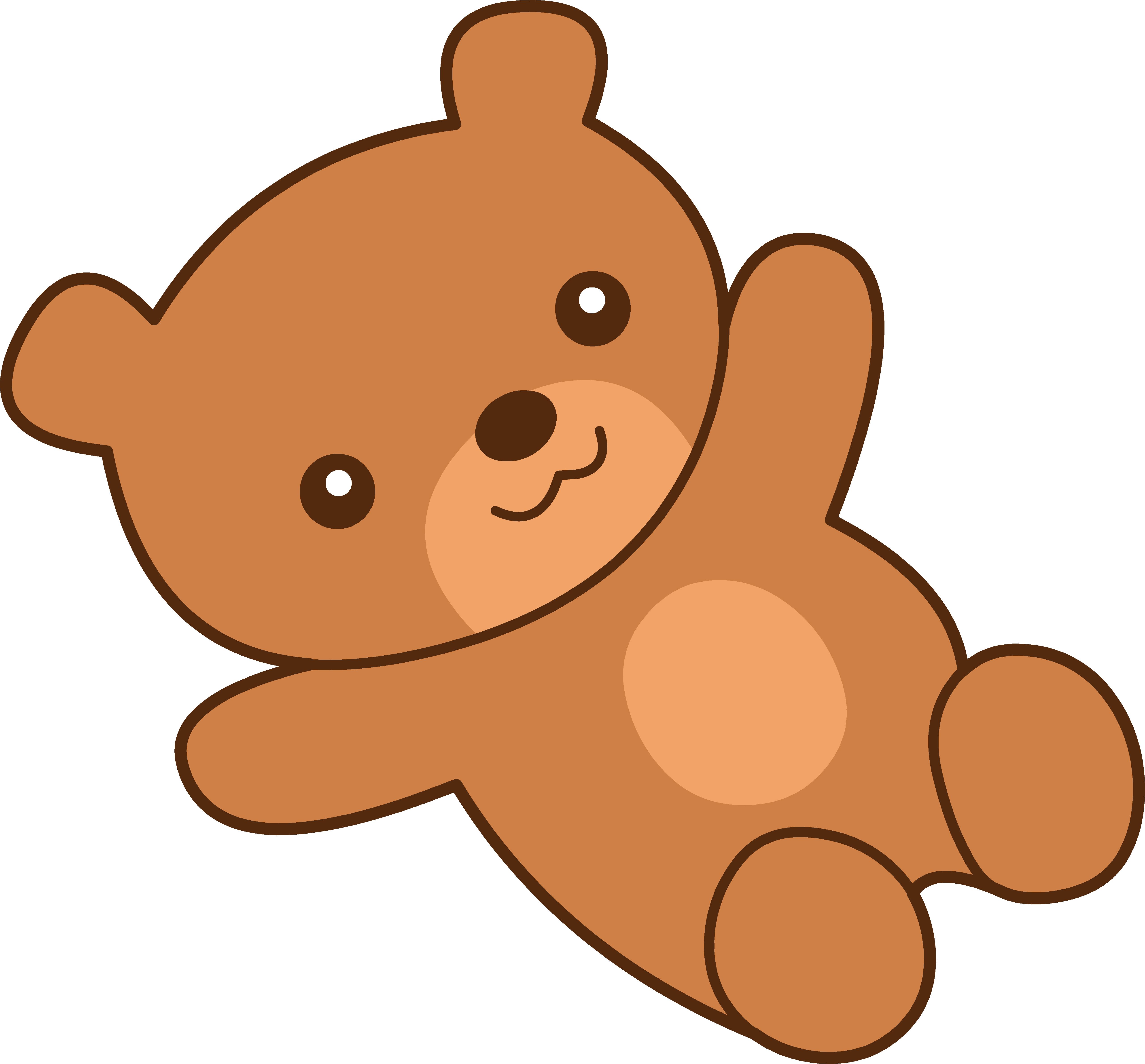 5120x4760 Cute Brown Teddy Bear Clipart
