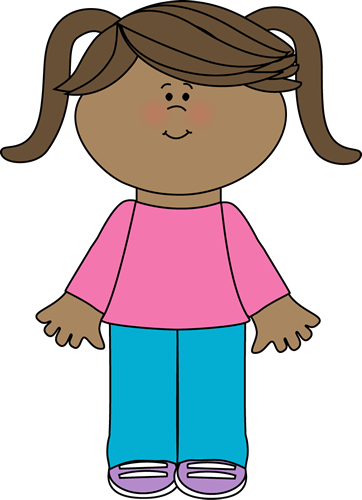 362x500 Cute Little Girl Clip Art