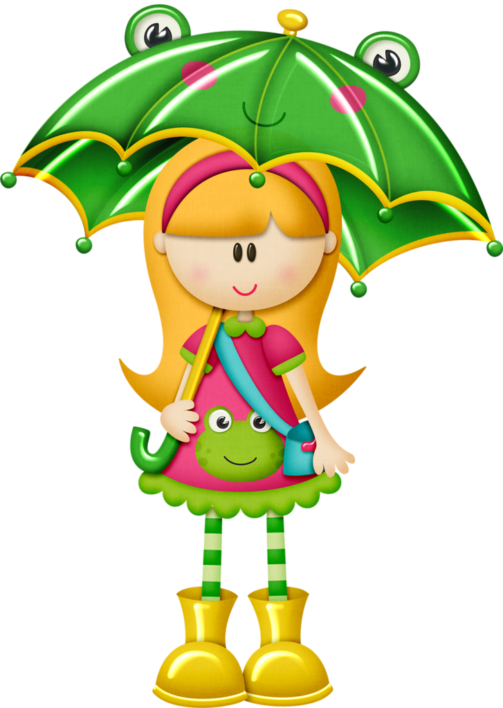 727x1024 Tborges Ribbitribbit Girl2.png Girls Clips, Clip Art And Frogs