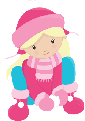 286x405 Winter Little Girl Clip Art Clip Art