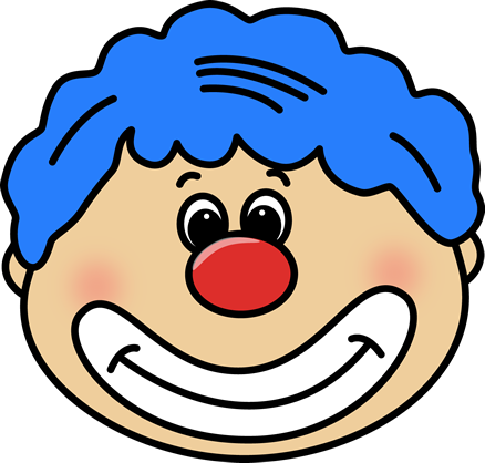 438x418 Cute Clown Faces Clipart