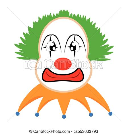 450x470 Funny Cute Clown. Abstract Cute Clown On A White Background Eps