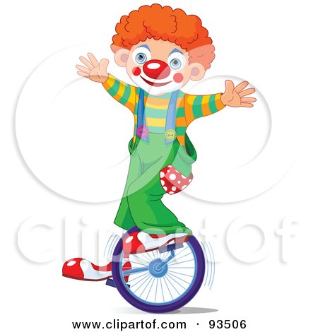 450x470 Royalty Free (Rf) Clipart Illustration Of A Cute Party Clown Boy