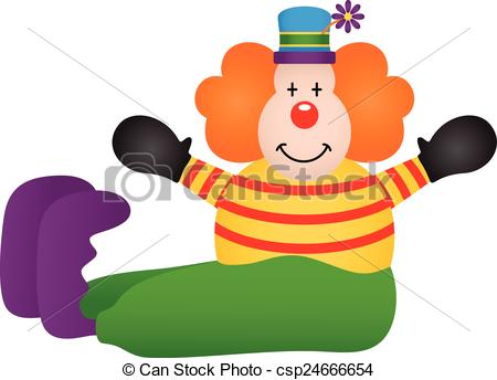 450x344 Scalable Vectorial Image Representing A Cute Clown Sitting