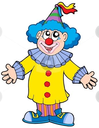 346x450 Smiling Clown Stock Vector Payasos 2