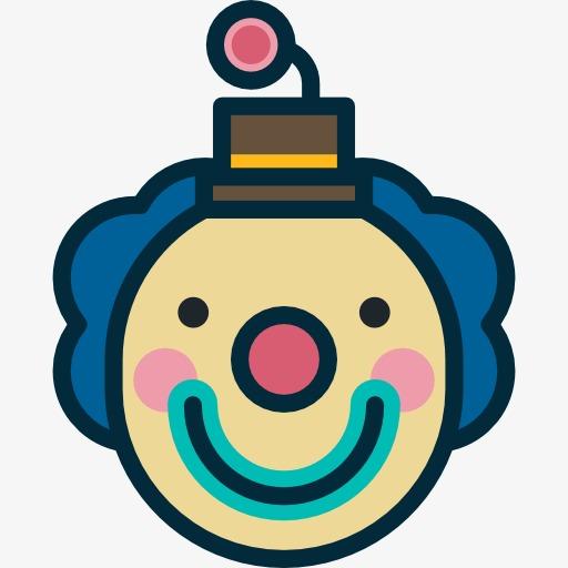 512x512 A Cute Clown, Mask, Facebook, Clown, Cartoon Png Image And Clipart
