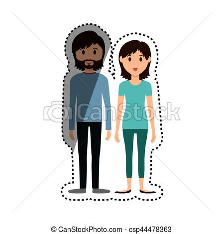 450x470 Cute Couple Cartoon Icon Vector Illustration Graphic Design Clip