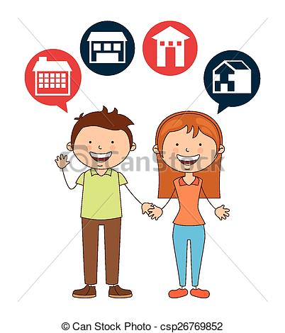 402x470 Cute Couple Design, Vector Illustration Eps10 Graphic