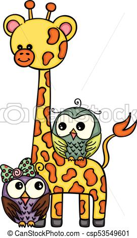 271x470 Scalable Vectorial Representing A Cute Giraffe With Couple