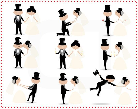 570x451 Stick Figure People Love Wedding Couple Meeting Cute Family