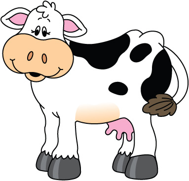 383x367 Collection Of Cow Clipart High Quality, Free Cliparts
