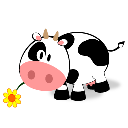 256x256 Cute Little Cow Icon Free Icons Download