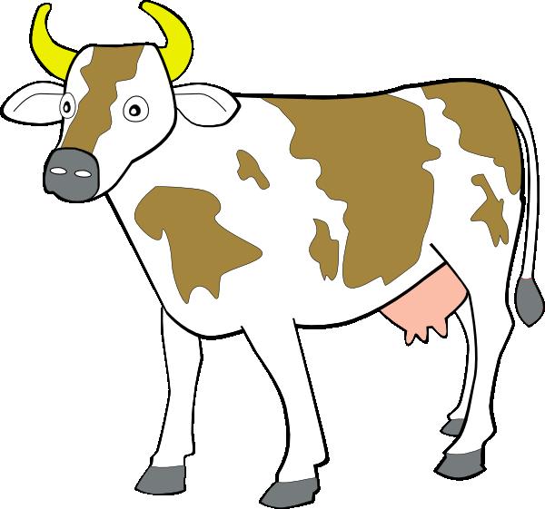 600x561 Free Vector Cow Clip Art Clipart Panda