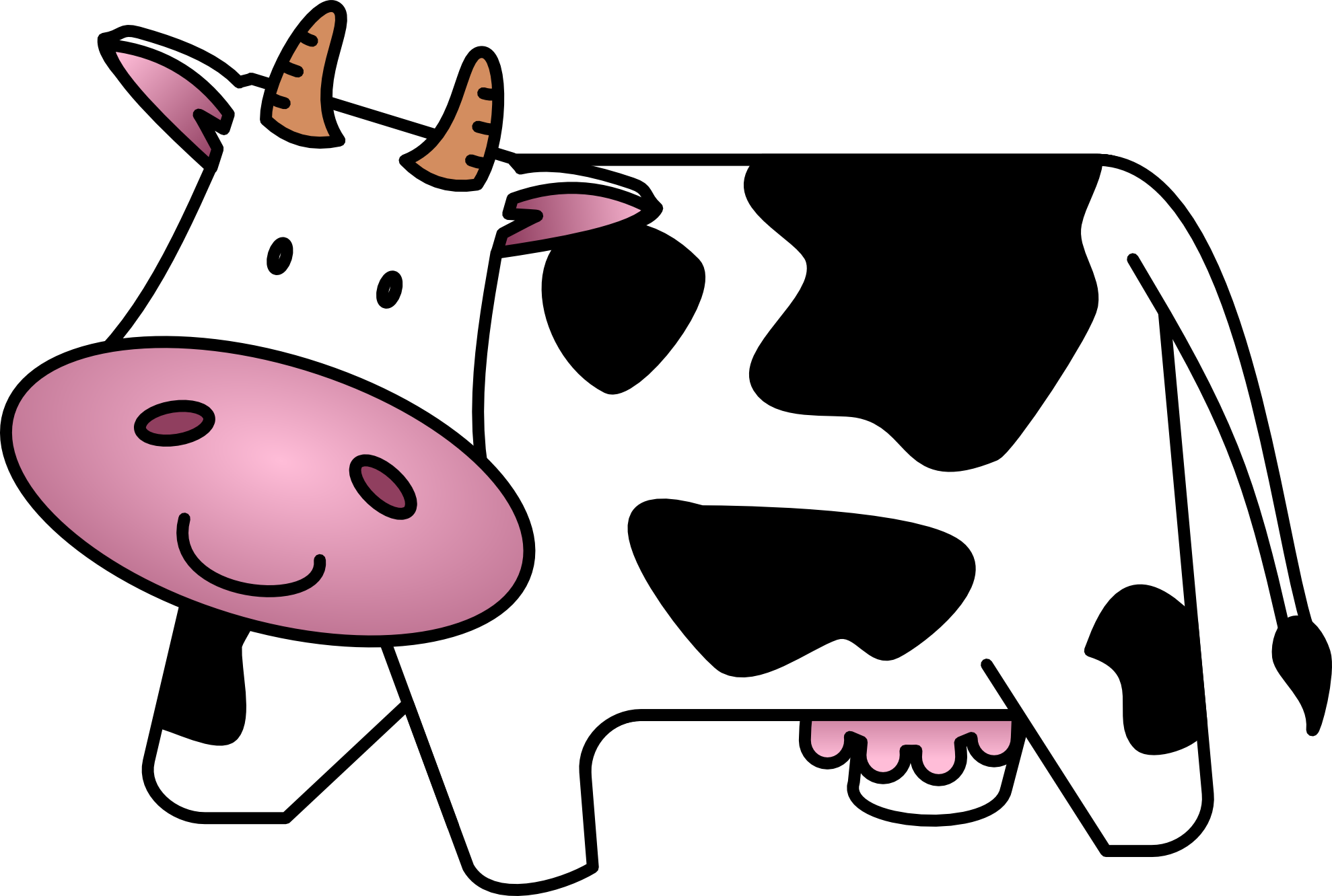 1979x1332 Collection Of Image Of Cow Clipart High Quality, Free