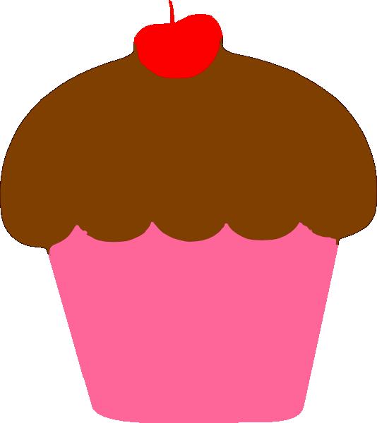 534x600 Cupcake With Cherry Clip Art