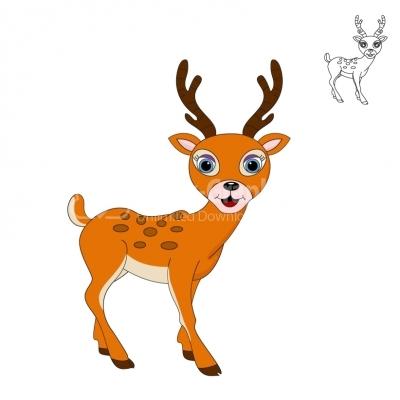 400x400 Cute Little Deer