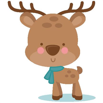 432x432 Girl Winter Deer Svg Scrapbook Cut File Cute Clipart Files