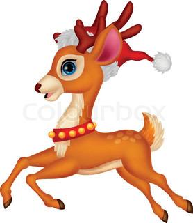 278x320 Vector Illustration Of Cute Deer Cartoon Stock Vector Colourbox