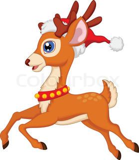 279x320 Vector Illustration Of Deer Cartoon Stock Vector Colourbox