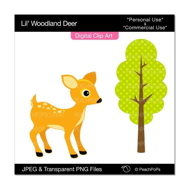 650x650 Cute Deer Clip Art Woodland Clipart Panda