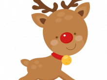 220x165 Christmas Deer Clipart Clipart Of Christmas Deer Vector K4660063