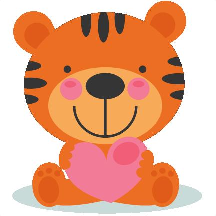 432x432 Cute Valentine Tigger Scrapbook Cuts Svg Cutting Files Doodle Cut